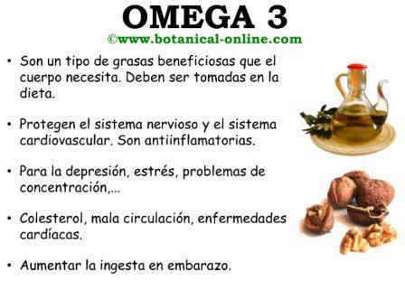 omega 3 tabla
