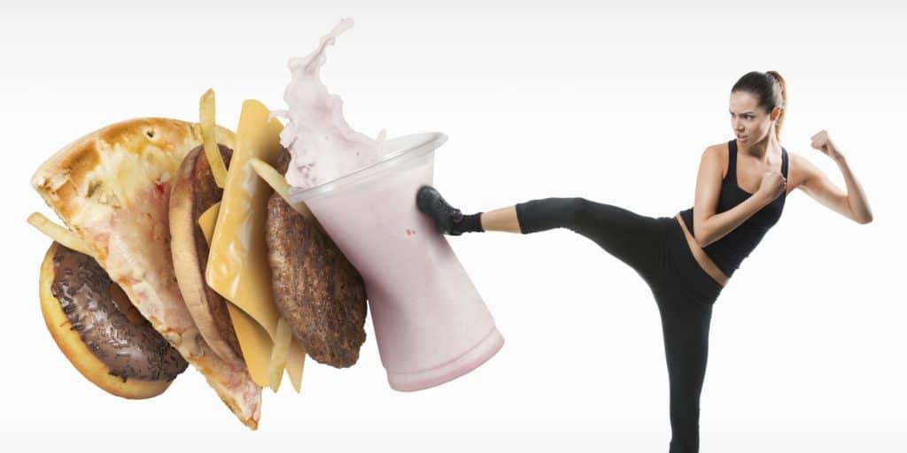 luchar contra comida basura